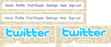 Twitter uses rounded corners for non IE browsers only